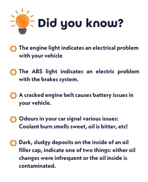 Did you know car facts listed out.
